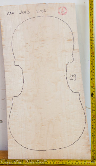 Viola No.29 One piece Back and Sides made with Bird eye maple in 2013 AAA grade