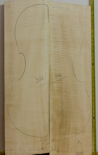 Cello No.301 Back and Sides made with Curly Maple in 2015 A grade