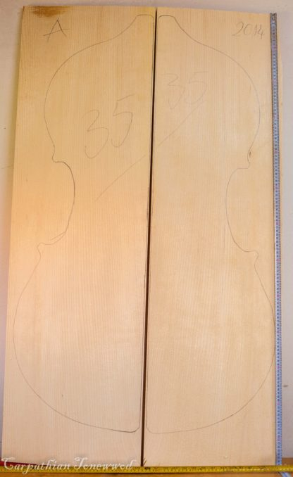 Double bass No.35 Top made with Spruce in 2014 A grade