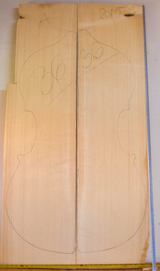 Double bass No.36 Top made with Spruce in 2015 A grade