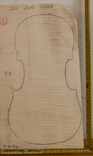 Viola No.50 One piece Back and Sides made with Curly maple in 2013 AA grade