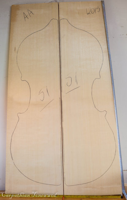 Double bass No.51 Top made with Spruce in 2015 AA grade