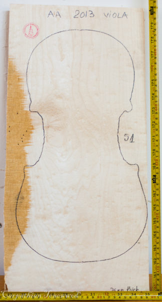 Viola No.51 One piece Back and Sides made with Bird eye maple in 2013 AA grade