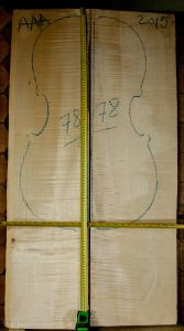 Cello No.78 Back and Sides made with Curly Maple in 2015 AAA grade