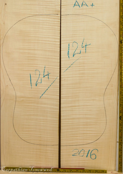 Guitar archtop No.124 Back and Sides made with Curly maple in 2016 AA grade