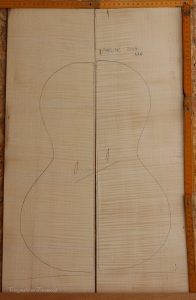 Parlor No.1 Back and Sides made with Curly Maple in 2014 AAA grade