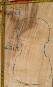 Viola No.25 One piece Back and Sides made with Poplar in 2014 A grade