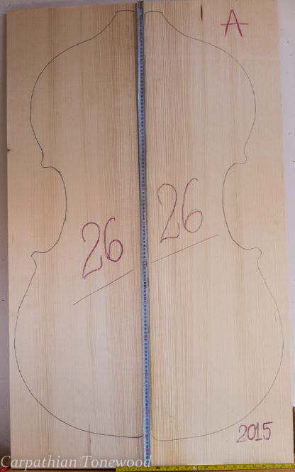 Double bass No.26 Top made with Spruce in 2015 A grade