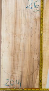 Viola No.26 One piece Back and Sides made with Poplar in 2014 AA grade