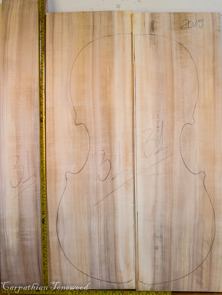 Cello No.31 Back and Sides made with Poplar in 2015 AA grade