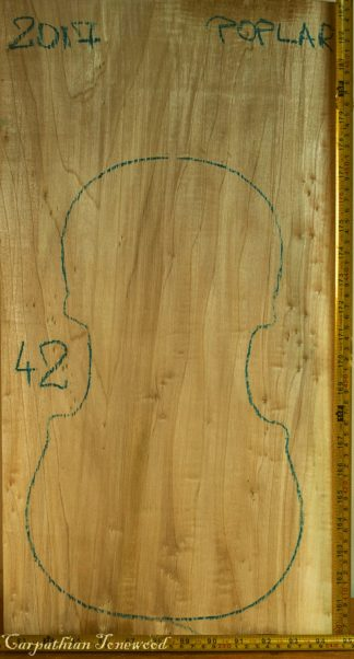 Viola No.42 One piece Back and Sides made with Poplar in 2017 AA grade