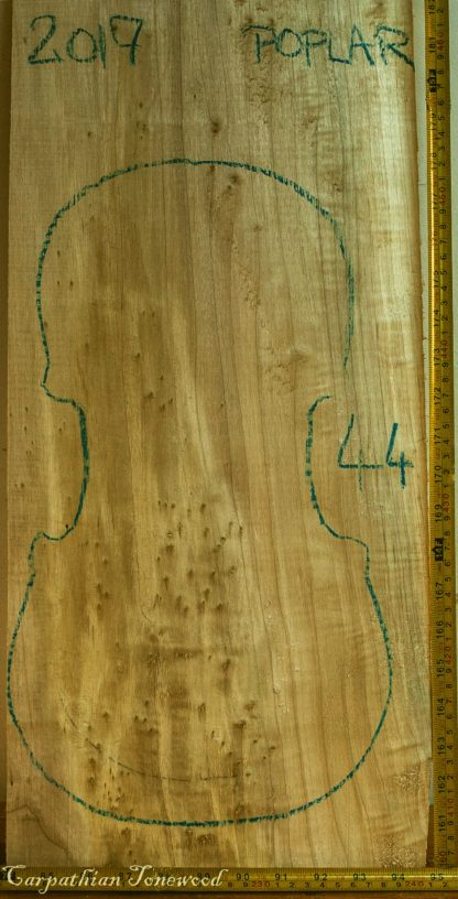 Viola No.44 One piece Back and Sides made with Poplar in 2017 AA grade