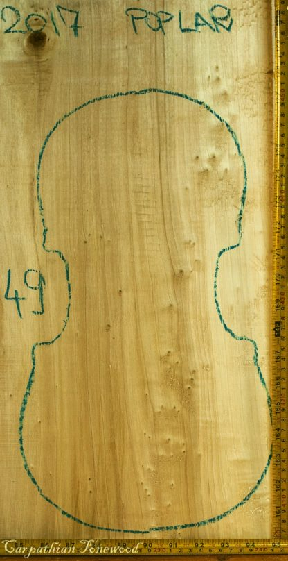 Viola No.49 One piece Back and Sides made with Poplar in 2017 AA grade
