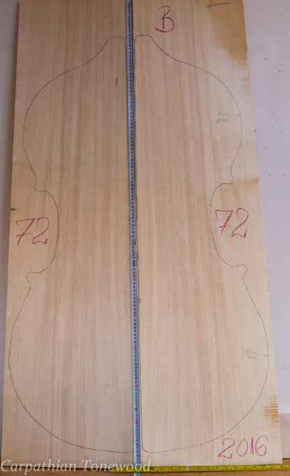 Double bass No.72 Top made with Spruce in 2016 B grade