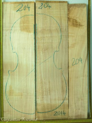 Cello No.204 Back and Sides made with Poplar in 2014 AA grade