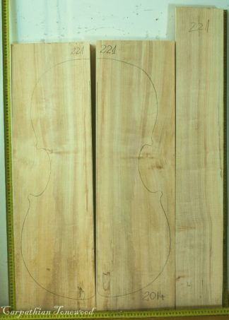 Cello No.221 Back and Sides made with Poplar in 2014 AA grade