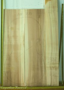Cello No.222 Back and Sides made with Poplar in 2014 AA grade