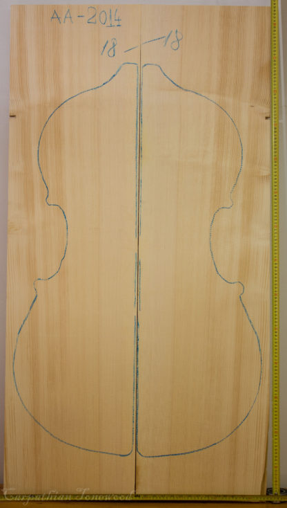 Double bass No.18 Top made with Spruce in 2015 AA grade
