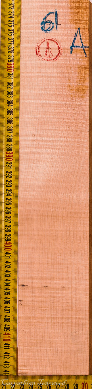 Violin No.61 Neck made with Curly maple in 2016 AAA grade