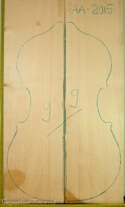Double bass No.9 Top made with Spruce in 2015 AA grade