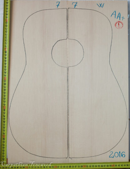 Guitar western No.7 Top made with Spruce in 2016 AA grade