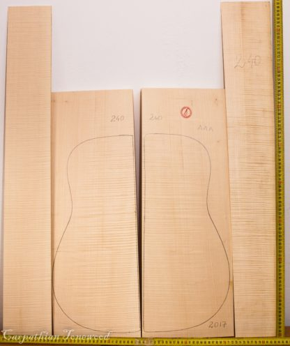 Guitar archtop No.240 Back and Sides made with Curly maple in 2017 AAA grade