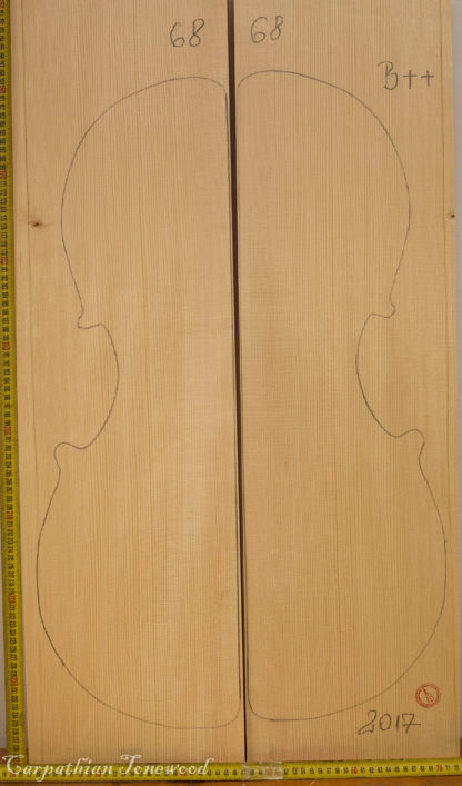 Cello No.68 Top made with Spruce in 2017 B grade
