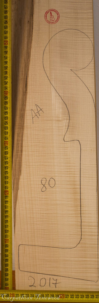 Cello No.80 Neck made with Curly maple in 2017 AA grade