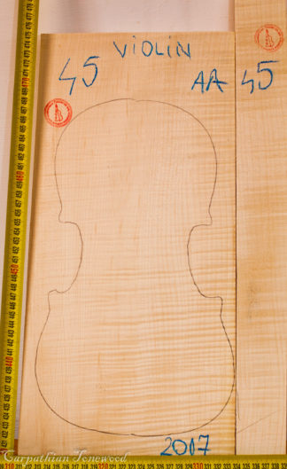 Violin No.45 Back and Sides made with Curly Maple in 2017 AA grade