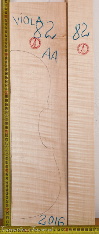 Viola No.82 Back and Sides made with Curly Maple in 2016 AA grade
