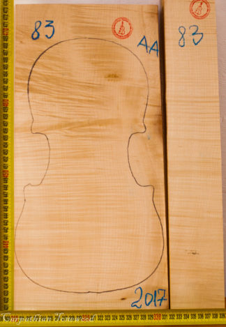 Violin No.83 Back and Sides made with Curly Maple in 2017 AA grade