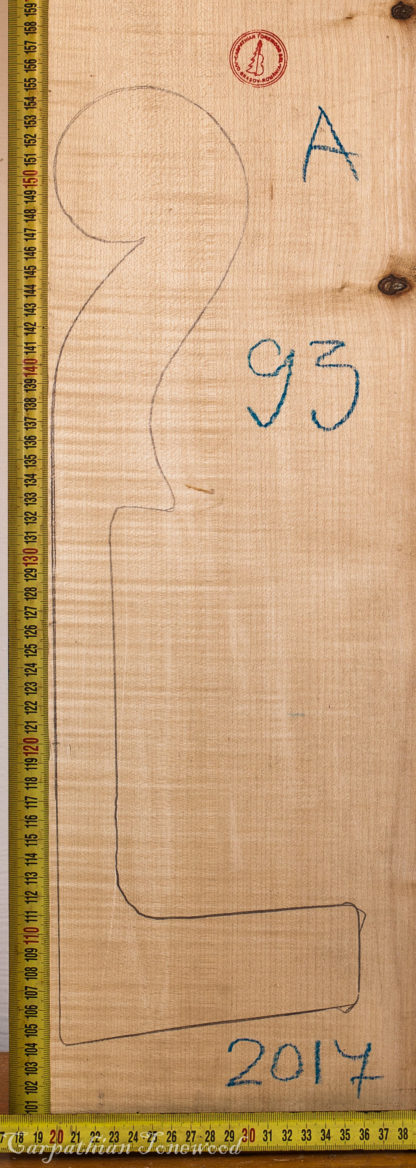 Cello No.93 Neck made with Curly Maple in 2017 A grade