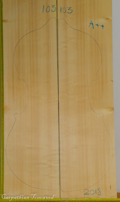 Double bass No.103 Top made with Spruce in 2018 A grade
