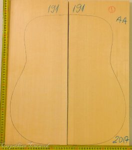 Guitar archtop No.191 Top made with Spruce in 2018 AA grade