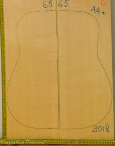 Guitar archtop No.65 Top made with Spruce in 2018 AA grade