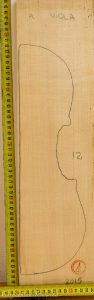 Viola No.12 Top made with Spruce in 2015 A grade
