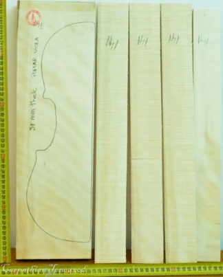 Viola No.141 Back and Sides made with Poplar in 2018 AA grade