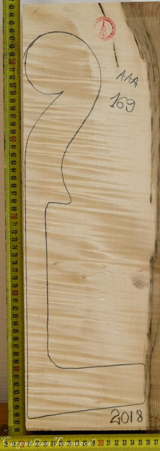 Cello No.169 Neck made with Curly Maple in 2018 AAA grade