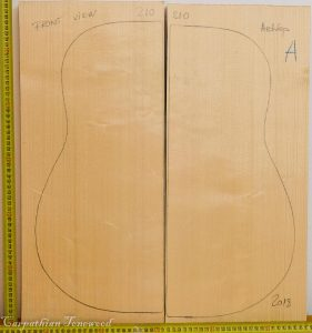 Guitar archtop No.210 Top made with Spruce in 2018 A grade