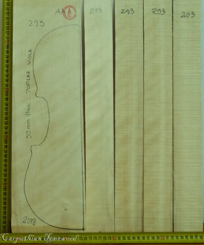 Viola No.293 Back and Sides made with Poplar in 2018 AAA grade