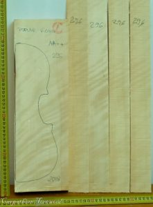 Viola No.296 Back and Sides made with Poplar in 2018 AA grade