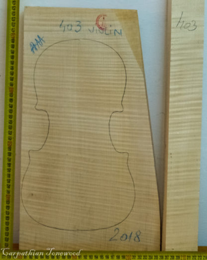 Violin No.403 One piece Back and Sides made with Curly Maple in 2018 AAA grade