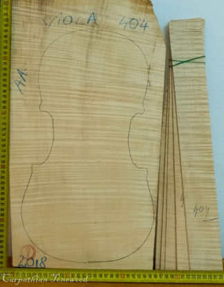 Viola No.404 One piece Back and Sides made with Curly Maple in 2018 AA grade