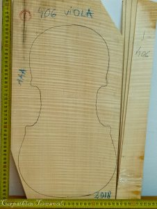Viola No.406 One piece Back and Sides made with Curly Maple in 2018 AAA grade