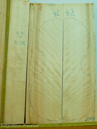 Cello No.42 Back and Sides made with Poplar in 2018 AAA grade