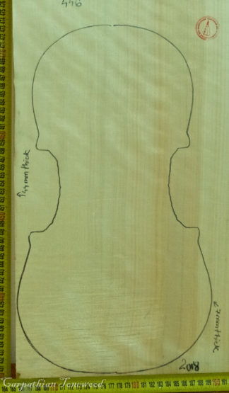 Violin No.446 One piece Back and Sides made with Poplar in 2018 AA grade