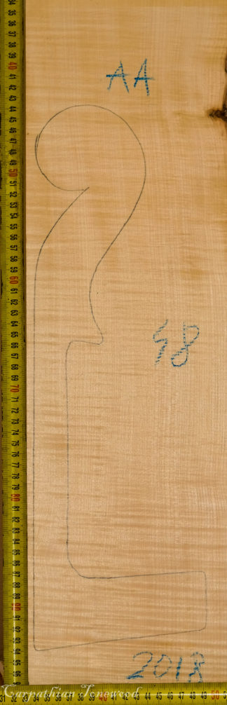 Cello No.48 Neck made with Curly maple in 2018 AA grade