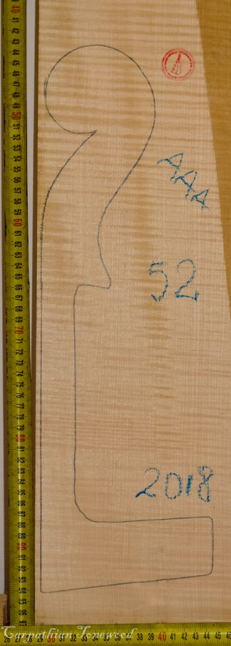 Cello No.52 Neck made with Curly maple in 2018 AAA grade