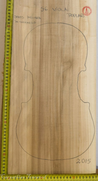 Viola No.56 One piece Back and Sides made with Poplar in 2015 A grade