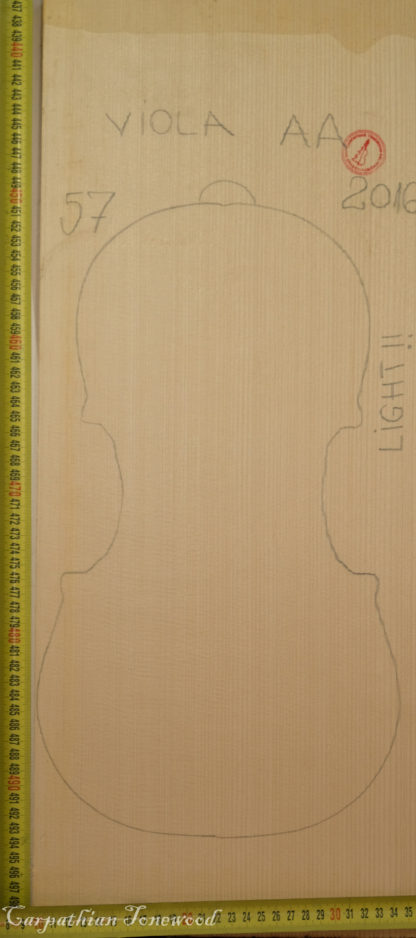 Viola No.57 One piece Top made with Spruce in 2016 AA grade